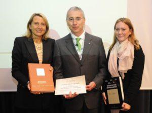Prof.ssa Maja OVSENIK, Prof. Alberto CAPRIOGLIO, Dr.ssa Jasmina PRiMOSCIC al termine della Lectio Magistralis
