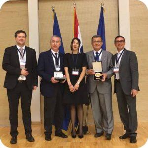 Prof. Alberto CAPRIOGLIO e Prof. Zelimir MURETIC premiati con la medaglia d'oro al Merito Ortodontico