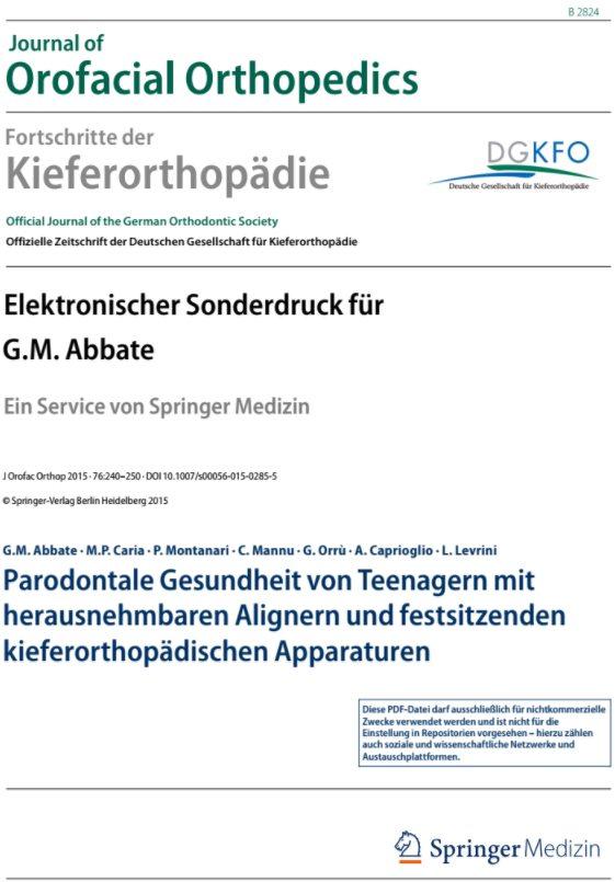 Abbate G.M. et al. - J Orofac Orthop 3-2015 - Periodontal health in teenagers...