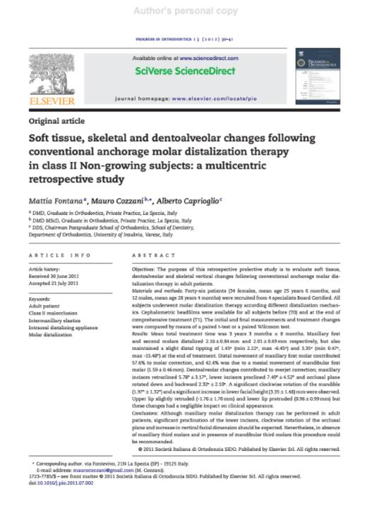 Soft tissue, skeletal and dentoalveolar changes