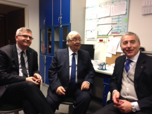 Cracovia 2014 - I Prof.i B. LOSTER, S. WILLIAMS e A CAPRIOGLIO in un momento di pausa del convegno sulla distalizzazione molare