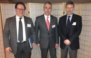 Going 2014 - I Prof.i Stavros KILIARIDIS (Ginevra), A CAPRIOGLIO e A. PUIGDOLLERS (Barcellona) al termine della loro conferenze sul morso aperto