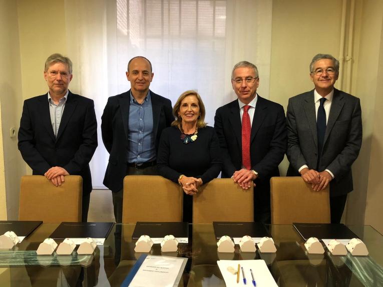 Madrid 2019 - La commissione d'esame dello Spanish Board of Orthodontics 2019 (Prof.i Puigdollers, Espinar, Soler Segada, Caprioglio, Leitao)