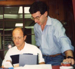 Tucson -Arizzona 1992 - Il Prof. James VADEN e l'allievo A. Caprioglio