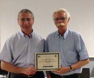 Varese 2015 - Il prfof Alberto Caprioglio ed il Prof. Aldo MACCHI durante il I Master Universitario di Odontoiatria Digitale organizzato in Europa