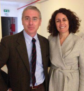 Varese 2017 - Il Prof. Alberto CAPRIOGLIO con la Dr.ssa Lucia CEVIDANES (USA) al termine delle esercitazioni cliniche del Master di Odontoiatria Digitale