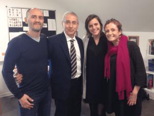 Aarhus 2018 - Il Prof. Alberto CAPRIOGLIO con il Prof. M. CATTANEO , la Dr.ssa S.BOTTICELLI e la Prof.ssa Marie CORNELIS durante lo Short Term Program