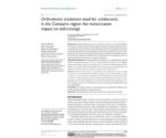 Orthodontic treatment need for adolescents in the Campania region: the malocclusion impact on self-concept